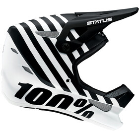 100% Status DH/BMX Bike Helmet white/black